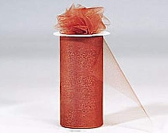 6 inch x 75 ft NYLON TULLE  COPPER  ( only 2.25 roll)