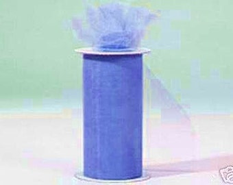 6 inch x 75 ft NYLON TULLE  PERIWINKLE  (only 2.25 per roll)