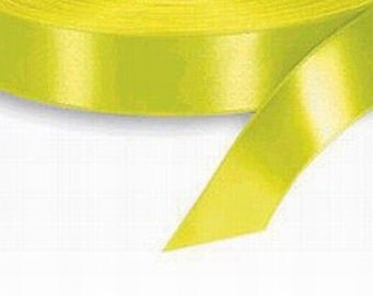 7/8 x 100 yds YELLOW SATIN RIBBON