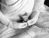 Sacred Heart of Buddha - BW