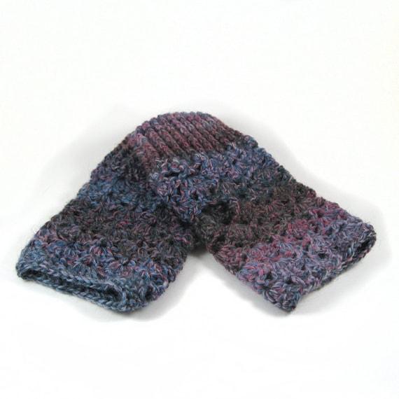 Crochet Fingerless Gloves Pair - Muted Cotton Candy