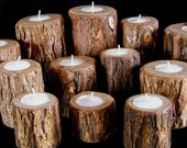 Rustic Candle Holders Set of 12