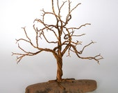 Miniature Wire Tree with Driftwood Base  was 79.00  BIG SALE !