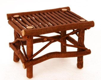 Rustic Ottoman or Bench or Table