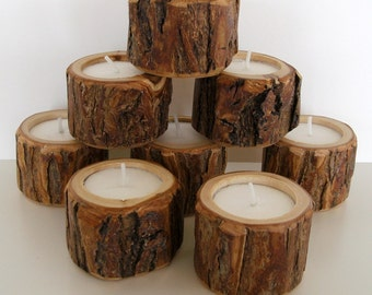 16 Little Dudes Rustic Candle Holders