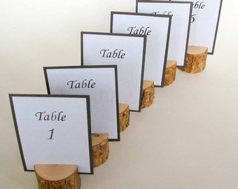 16 Rustic Wedding Table Card Holders Handmade to Order
