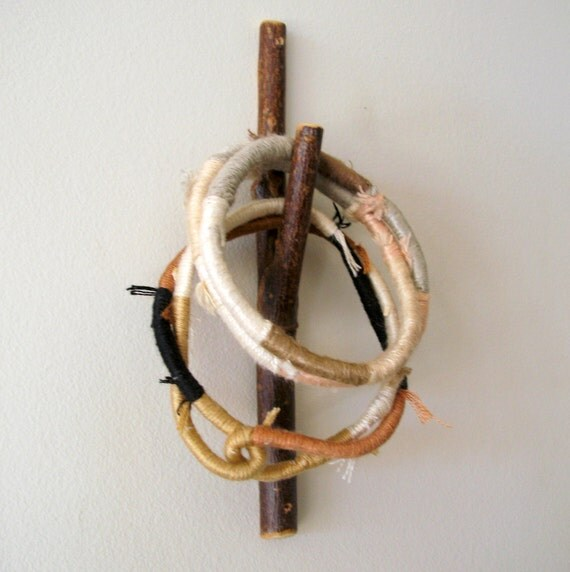 Twig Wall Hook of Rustic Willow Wood