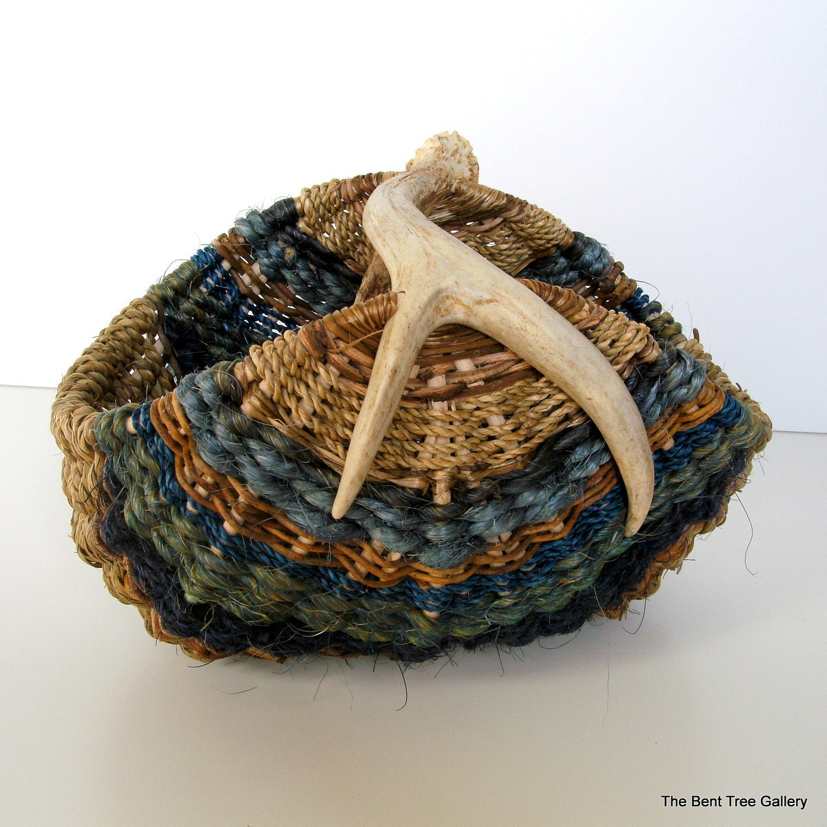 Basket Weaving Materials Canada : Antler basket woven from natural materials by