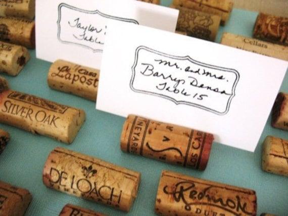 25 Wine Cork Place Card Holders Set of 25 Various Vineyards