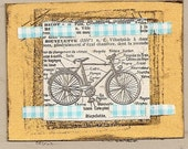 bicyclette (handmade greeting card BLANK)