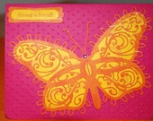 Handmade Butterfly Card Friend to Friend All Occasion