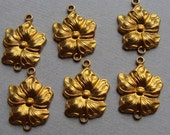 Brass Floral Connectors, jewelry findings