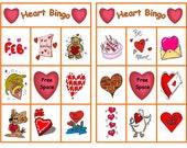 Valentine Bingo Class Printable Set