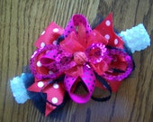 Private Listing for Hannah Lady Bug Baby Headband