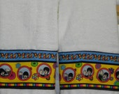 Beatles Inspired Hand Towels not a licensed product ( 2 hand towels only)