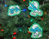 Smurf Christmas Ornament (not a licensed product)