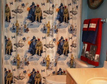 Custom Shower Curtain Made With New Star Wars Bed Sheet (not a licensed product)
