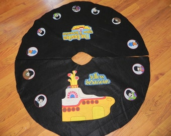 Tree Skirt made with Beatles Yellow Submarine fabric (not a licensed product)