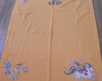 Rainbow Brite adult Throw blanket Made With Vintage Rainbow Brite Bed Sheets (not a licensed product)