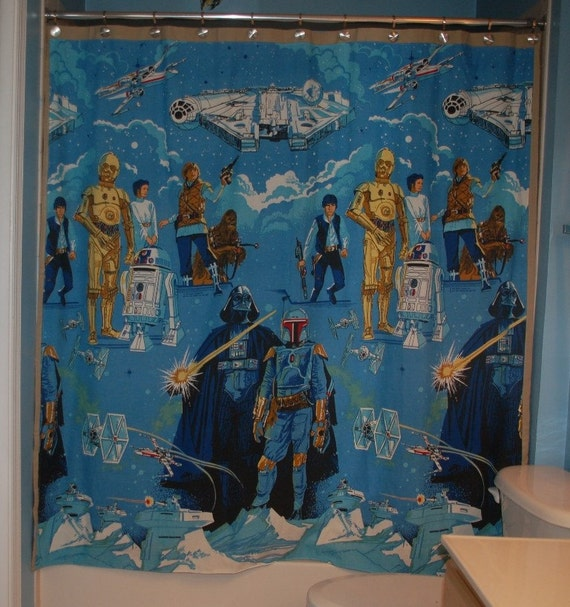 Curtains Ideas curtains made from bed sheets : Curtain Made WIth Vintage Star Wars Bed Sheet