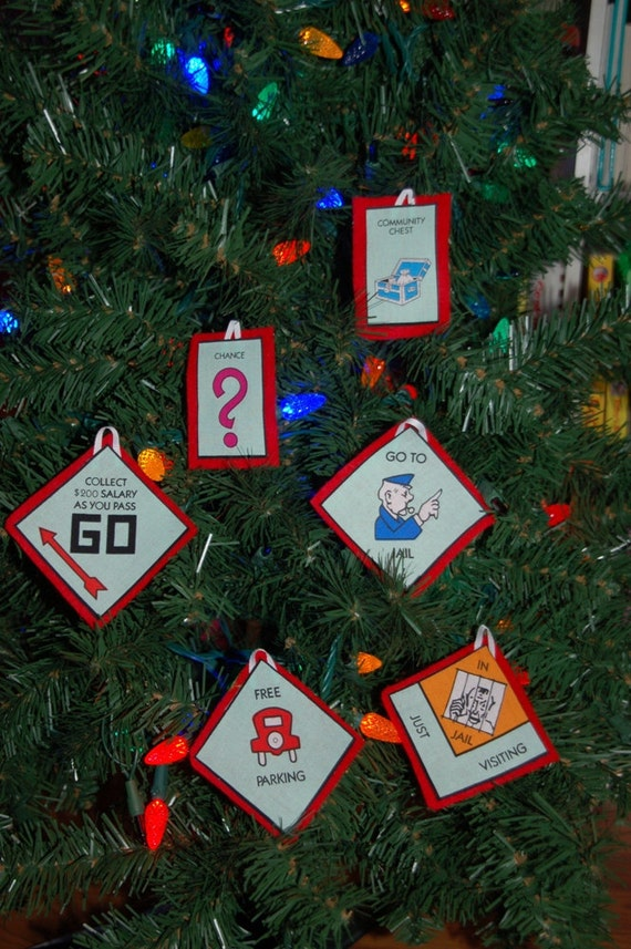 Monopoly Inspired Christmas Ornaments