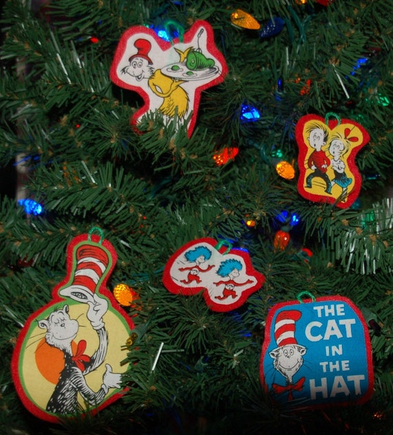 Dr. Suess Christmas Ornament Set