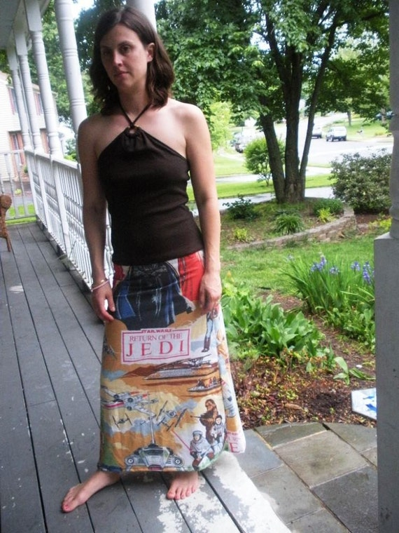 One of A Kind Sundress Made with Vintage Star Wars Return of the Jedi Bed Sheet