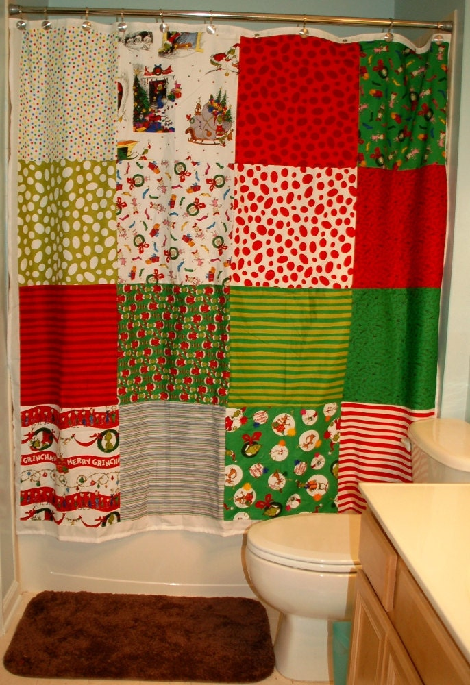 Dr. Seuss' How The Grinch Stole Christmas Shower Curtain