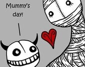 Mummy's Day - GingerDead Goth and Alternative Greeting Cards by Calan Ree -  Mother's Day