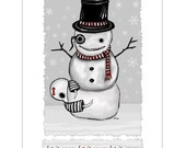 Ennui - Let it Snow Card w/ envelope- GingerDead Goth Greeting Cards - Gothic Christmas -