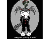 Vendetta - Holiday Surprise - GingerDead Dark Humor Goth / Alternative Christmas Greeting Cards Card w/ envelope