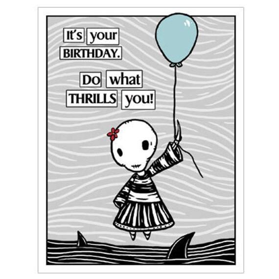 Ennui Birthday Thrill GingerDead Goth Alternative – Alternative Birthday Greetings