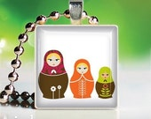 Scrabble Tile Pendant - MATRYOSHKA DOLL No.3 (OMP503)