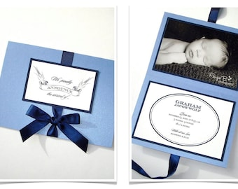 25 - Flight Baby Boy Announcement - Baby Shower Invitation - Modern Baby Announcement - First Birthday Invitation - Navy, White, Blue