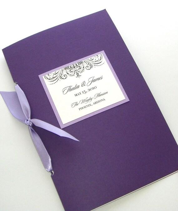 Embellished Booklet Wedding Program - Sample - Custom Colors