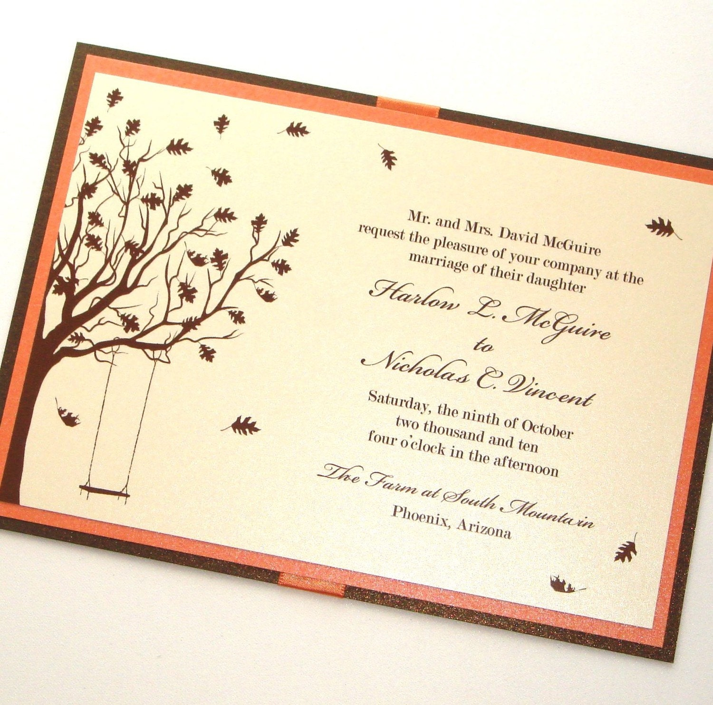 Harlow Fall Wedding Invitation Sample Ecru Ivory Cream
