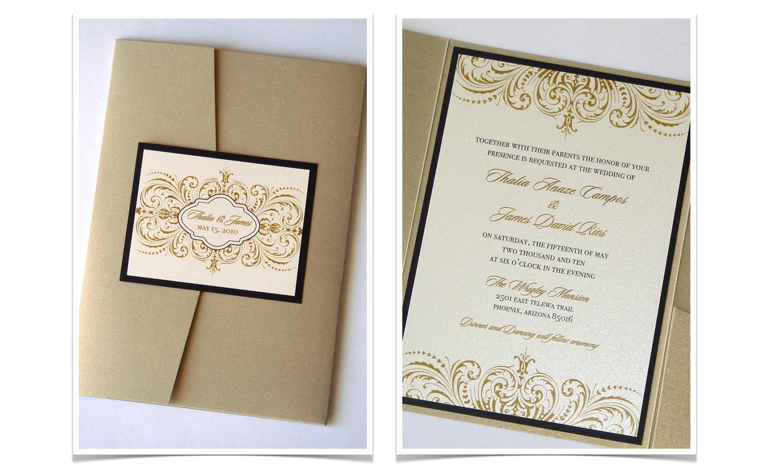 Pocket Fold Wedding Invitations with perfect invitation example