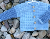 Two toned Hand Knit Blue Sweater for Toddler