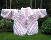 Pastel Button Down Baby Girl Sweater
