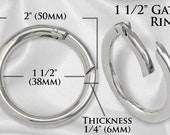 """2pcs - 1 1/2"""" Gate-Ring- Nickel - Free Shipping (GATE RING GRG-124)"""