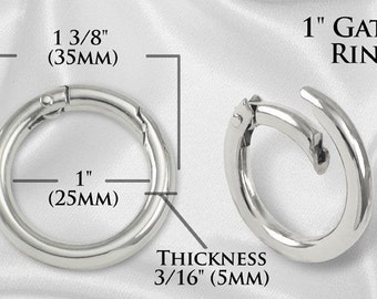 "2pcs - 1"" Gate-Ring- Nickel - Free Shipping (GATE RING GRG-108)"
