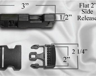 "30pcs - 2"" Flat Side Release Plastic Buckles (PLASTIC BUCKLE PBK-100)"