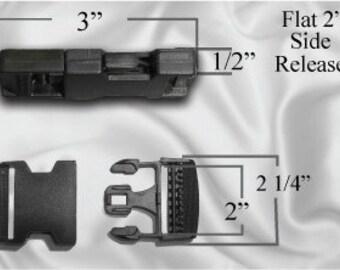 "100pcs - 2"" Flat Side Release Plastic Buckles (PLASTIC BUCKLE PBK-100)"