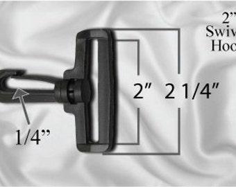 """10pcs - 2"""" Swivel Plastic Hook - Black - Free Shipping (PLASTIC HOOK PHK-100)"""