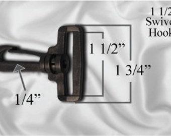 """10pcs - 1 1/2"""" Swivel Plastic Hook - Black - Free Shipping (PLASTIC HOOK PHK-102)"""