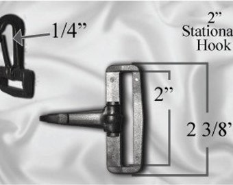 "10pcs - 2"" Stationary Plastic Hook - Black - Free Shipping (PLASTIC HOOK PHK-200)"