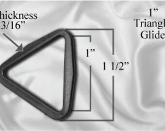 "50pcs - 1"" Triangle Glide - Black Plastic (TTG-106)"