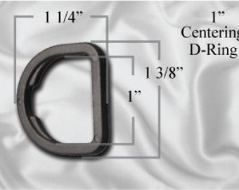 "10pcs - 1"" Centering D-Ring - Black Plastic (PCR-102)"