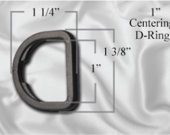 "30pcs - 1"" Centering D-Ring - Black Plastic (PCR-102)"