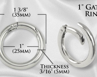 "100pcs - 1"" Gate-Ring - Nickel - Free Shipping (GATE RING GRG-108)"